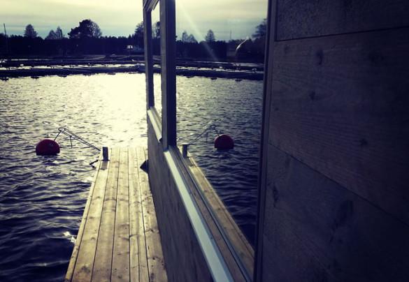 Fönster till bastuflotte