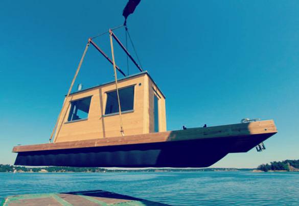 Flytkropp till bastuflotte