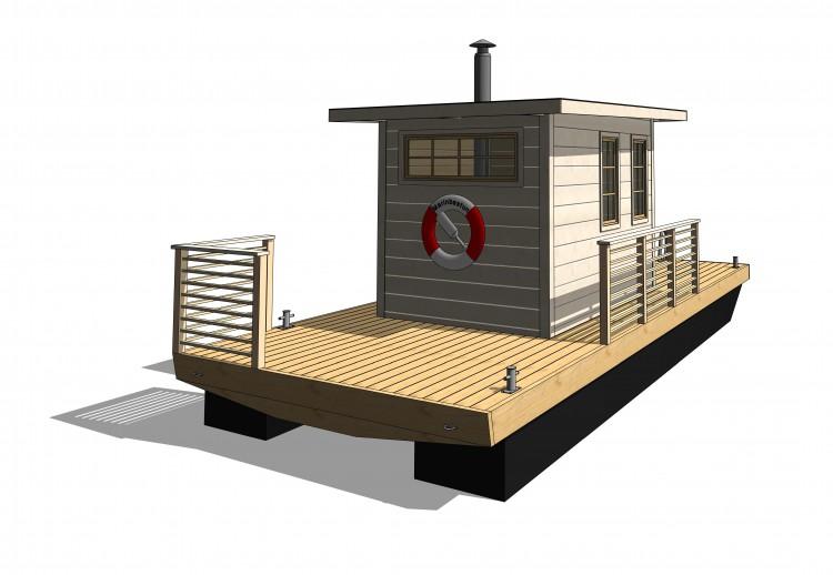 3D ritning bastuflotte Juni