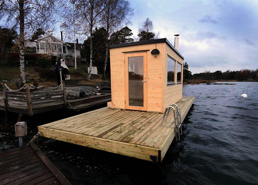 Leverans av bastubåt till Oxelösund
