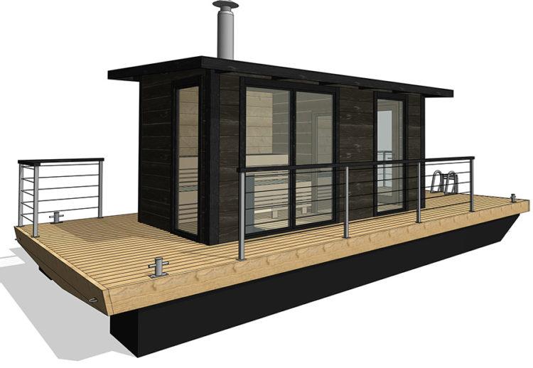 Nyhet! Bastuflotte med fönster från golv till tak