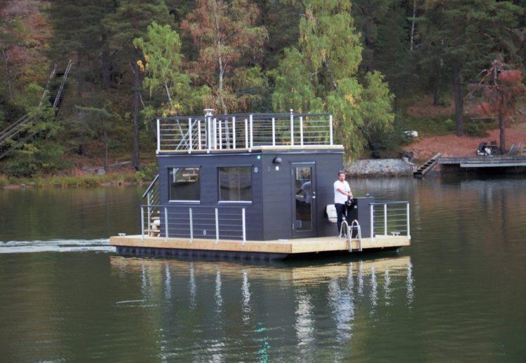 Bastuflotte Frank XL med motor - Marinbastun