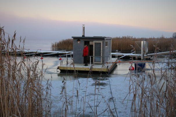 Leverans bastuflotte till Nyköping - Marinbastun