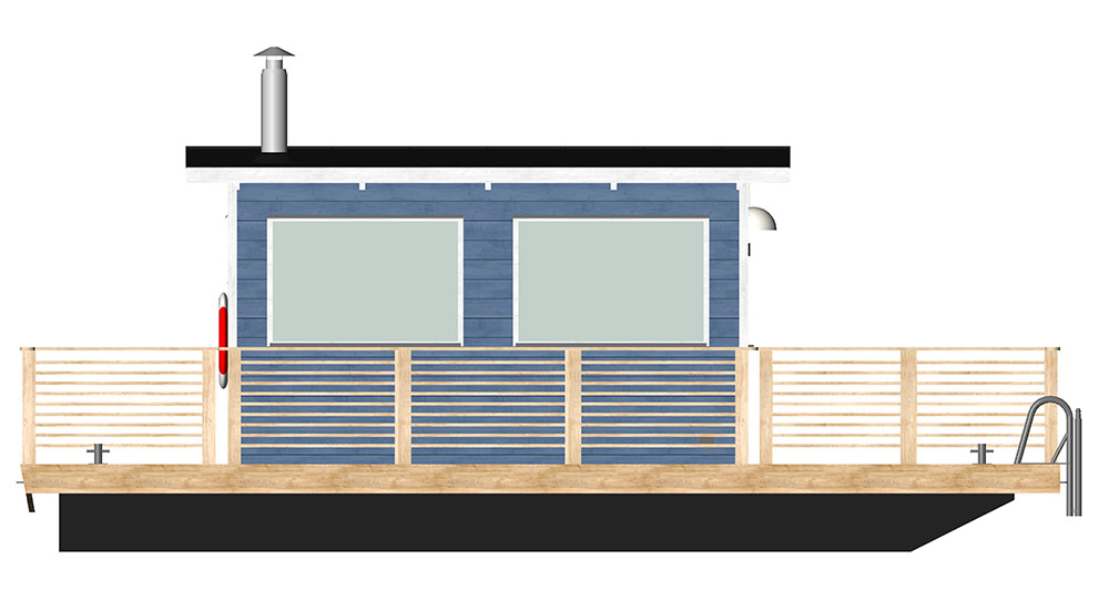 Bastuflotten Svea ritning 3d