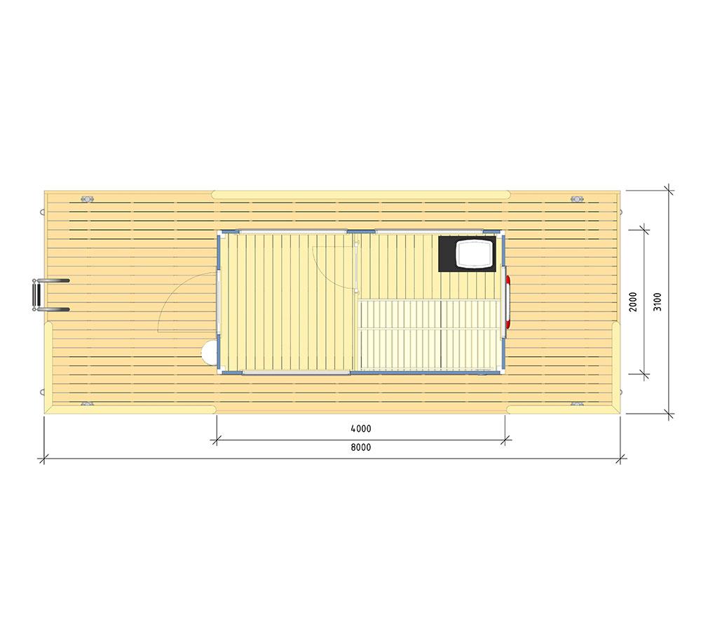 Floor plan bastuflotten Svea