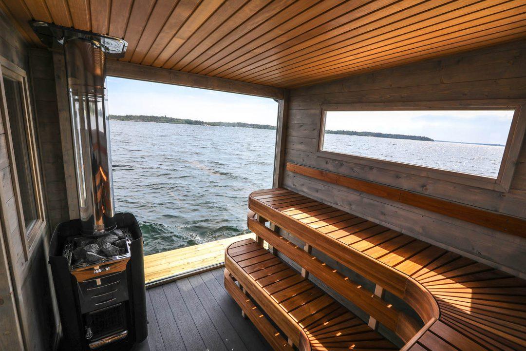 Bastuflotte Wilma XL i Stockholms skärgård