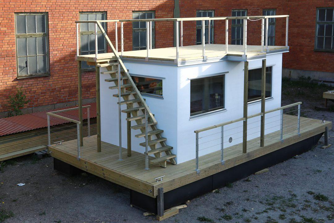 Bastuflotte Frank XL med hoppavsats till takterrassen