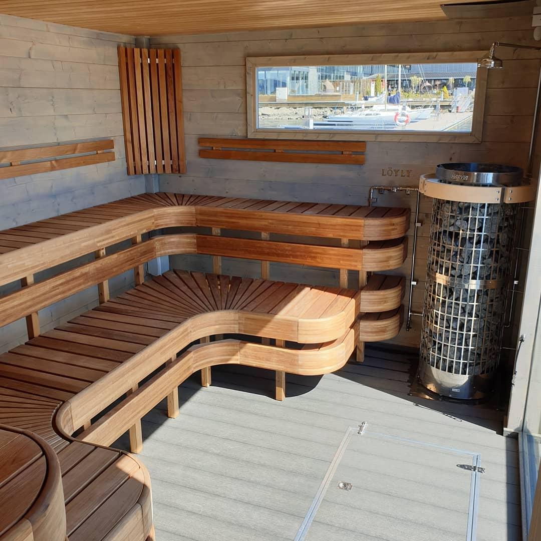 Marinbastuns badstuflotte till Son Spa i Norge