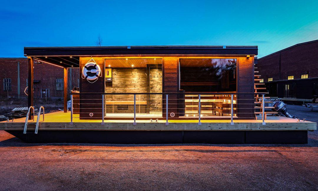 Stor bastubåt designad för hotell – Marinbastun