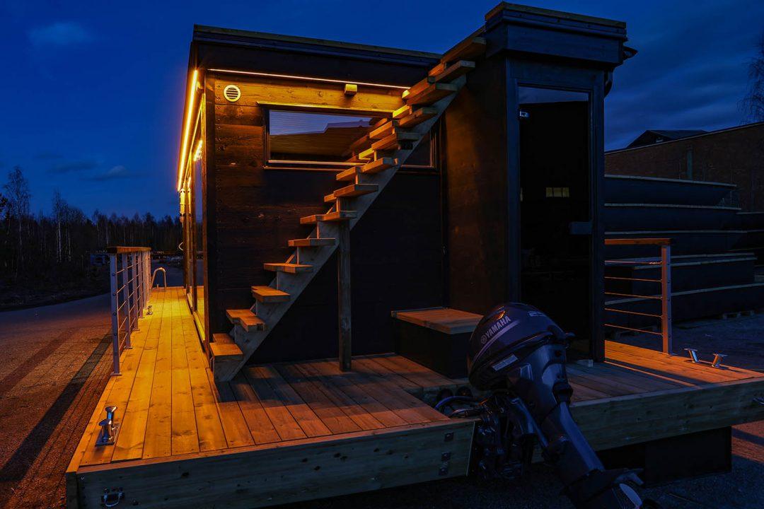 Vår senaste bastuflotte som är passar till hotell – Marinbastun