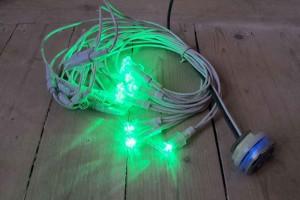 LED-slinga med olika färger 10 punkter 1950 kr