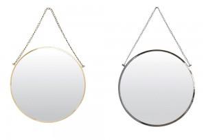 Spegel, Bolina i mässing och silver