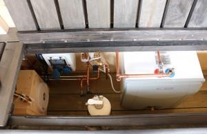 Varmvattenberedare avtappningskranar landströmsenhet mm